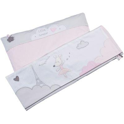 Drap + taie d'oreiller Lilibelle (190 x 140 cm)  par Sauthon Baby Déco