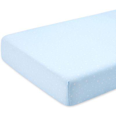 Drap housse de berceau bleu stary frost 40 x 90 cm for Drap housse 40x90