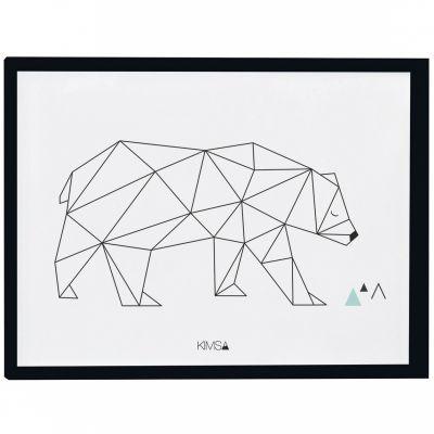 Affiche encadrée géométrique ours Origami play by Claudia Soria (30 x 40 cm)  par Lilipinso