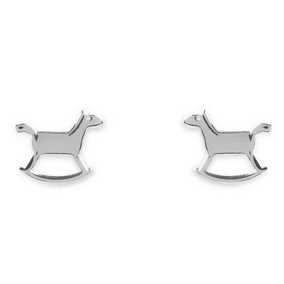 Boucles d'oreilles Mini Coquine cheval (argent 925°)  par Coquine