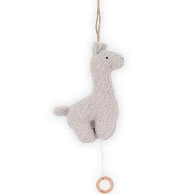 Peluche musicale Lama gris (25 cm)  par Jollein