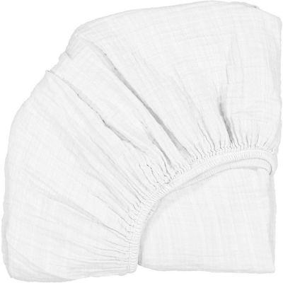 Drap housse pour lit bébé Kimi blanc (60 x 120 cm)  par Charlie Crane