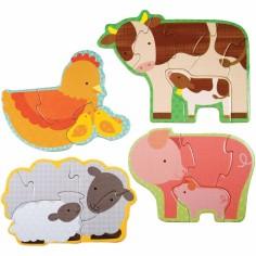 Mon premier puzzle animaux de la ferme (18 pièces)