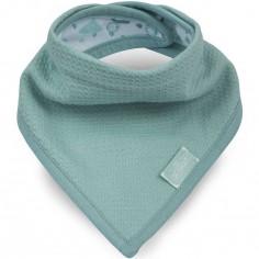 Bavoir bandana Tiny waffle vert d'eau