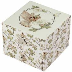 Boîte à bijoux musicale cube Flower Fairies narcisse