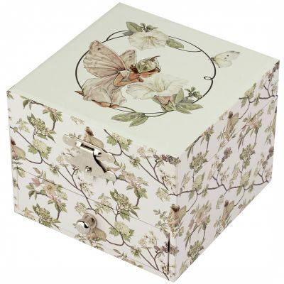 Boîte à bijoux musicale cube Flower Fairies narcisse  par Trousselier