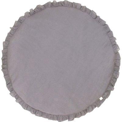 Tapis de jeu à volants gris requin Pure nature  par Cotton&Sweets