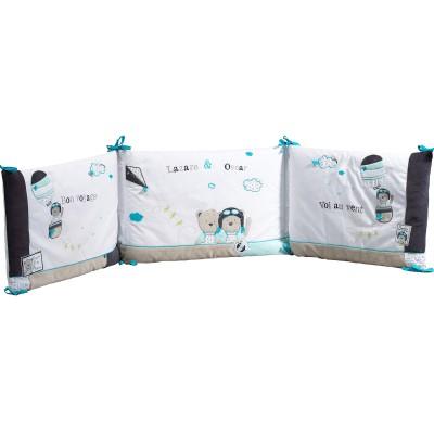 tour de lit lazare pour les lits 120 x 60 et 140 x 70 cm. Black Bedroom Furniture Sets. Home Design Ideas