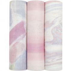 Lot de 3 maxi langes en bambou Silky Soft Florentine (120 x 120 cm)