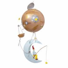 Mobile décoratif Schlumpeter Lune  par L'oiseau bateau