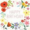 Carte d'anniversaire Summer meadow fleurs - REX
