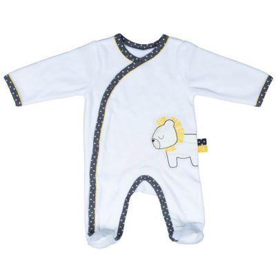 Pyjama chaud Pluche et Pompon lion (1 mois)  par Sauthon