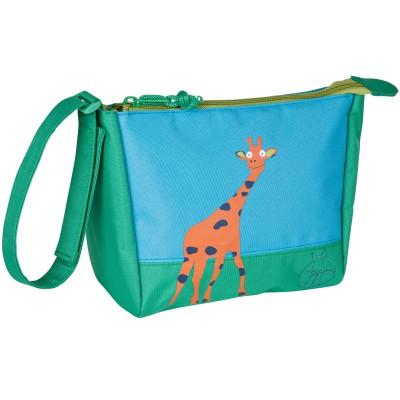 mini trousse de toilette wildlife girafe verte lssig