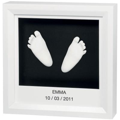 Cadre empreinte 3D My Little Steps blanc  par Baby Art
