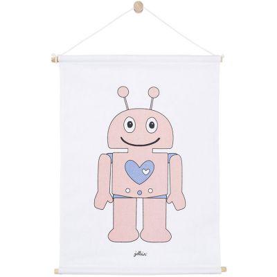 Affiche en tissu Robot rose (42 x 60 cm)  par Jollein