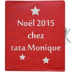 Album photo personnalisable rouge (126 pages)