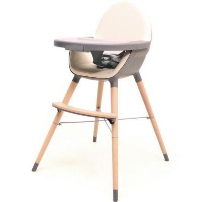 Chaise haute évolutive Essentiel gris et sable  par AT4