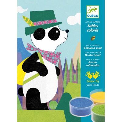 Kit de sables colorés Panda et ses copains Djeco