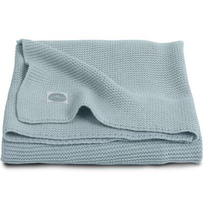 couverture bébé coton Couverture bébé en coton Basic knit gris vert (100 x 150 cm) couverture bébé coton