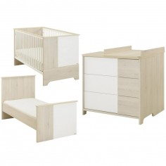 pack duo sacha lit b b volutif et commode avec plan langer galipette. Black Bedroom Furniture Sets. Home Design Ideas