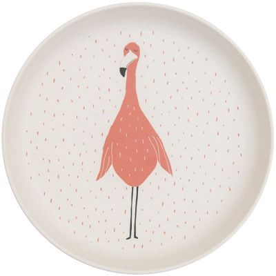 Assiette plate Mrs. Flamingo  par Trixie