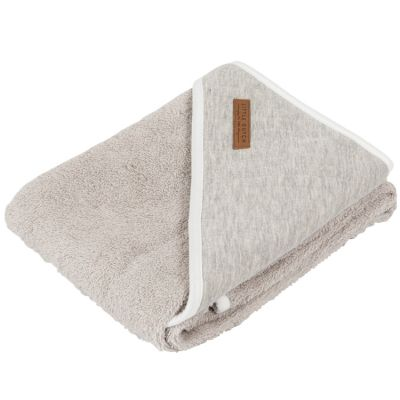 Cape de bain Pure grey (75 x 75 cm)  par Little Dutch