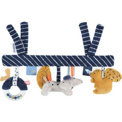 Chaîne d'activités en veloudoux Aston & Jack chien bleu  par Noukie's