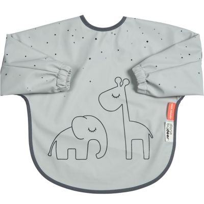 Bavoir à manches Dreamy dots gris  par Done by Deer