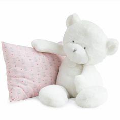 Peluche ours blanc Le Doudou (50 cm)
