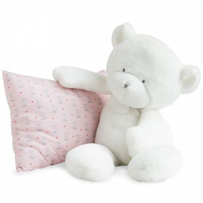Peluche ours blanc Le Doudou (50 cm) Doudou et Compagnie