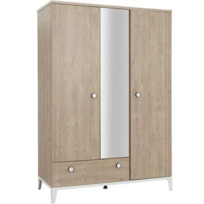 Armoire 3 portes et 1 tiroir en chêne blond Marcel  par Galipette