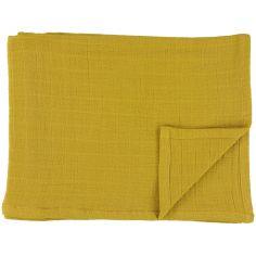 Lot de 3 langes en mousseline de coton Bliss Mustard (55 x 55 cm)