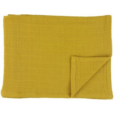 Lot de 3 langes en mousseline de coton Bliss Mustard (55 x 55 cm)  par Trixie