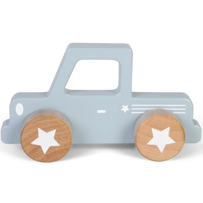 Petit pickup en bois blue  par Little Dutch