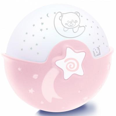 Veilleuse à piles Projecto rose  par Infantino