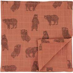 Lot de 2 langes en mousseline de coton bio Brave Bear (110 x 110 cm)