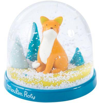 Boule à neige renard Chaussette Le voyage d'Olga  par Moulin Roty