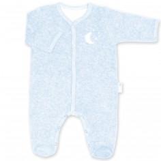 Pyjama léger terry Bmini bleu clair à points frost (naissance : 50 cm)