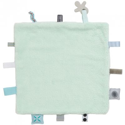 Doudou attache sucette Sweet Dreaming Misty Green (25 x 25 cm) Snoozebaby