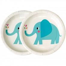 Assiette en carton Elvis l'éléphant (8 pièces)  par REX