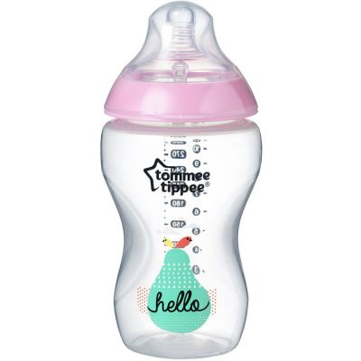 Biberon Closer to nature décoré rose (340 ml)  par Tommee Tippee