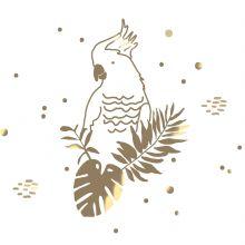 Sticker mural Golden Parrot (60 x 40 cm)  par Mimi'lou
