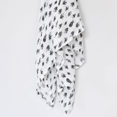 Maxi lange en coton bio Poisson (120 x 120 cm)