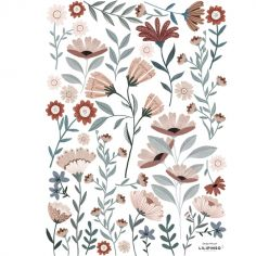 Planche de stickers A3 Ocean flowers