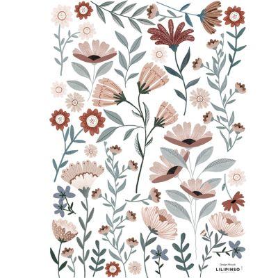 Planche de stickers A3 Ocean flowers  par Lilipinso