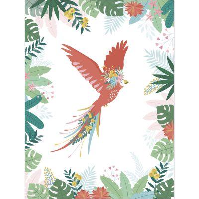 Affiche L'envol du perroquet (30 x 40 cm)  par Lilipinso