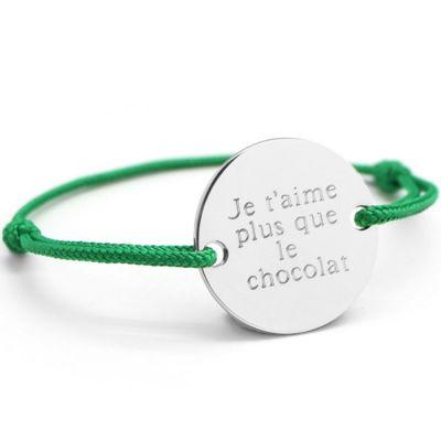Bracelet cordon homme Family (argent 925°)  par Petits trésors