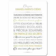 Carte Grands-parents (15 x 21 cm)