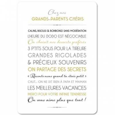 Carte Grands-parents (15 x 21 cm)  par Mes Mots Déco
