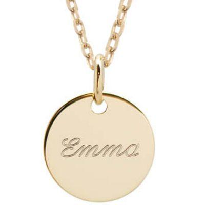 Collier enfant Petite médaille personnalisable (plaqué or)  par Petits trésors
